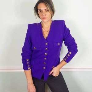 ST. JOHN collection purple knit jacket
